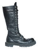 Black boot. Black boot on a white background Royalty Free Stock Photo