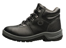 Hiking black boot isolated on white  Stock Image