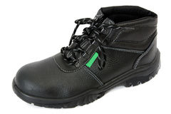 Black Boot with Green Royalty Free Stock Photos