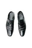 Black boot on white background Stock Image