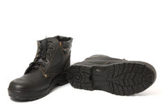 Black boots Royalty Free Stock Photography