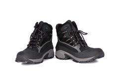 Black boots. Isolated on white background Stock Image