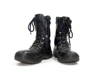 Black boots Royalty Free Stock Photos