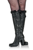 Black boots Royalty Free Stock Image