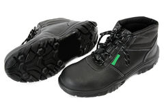 Black Boots with Green Stock Photo