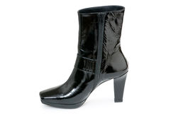 Black boots isolated Royalty Free Stock Photos