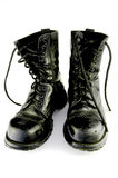 Black boots, isolated Stock Image