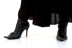Black Boots & Skirt stock images