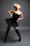Black boots and tutu Stock Images
