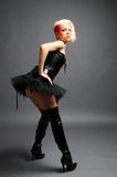 Black boots and tutu Royalty Free Stock Images