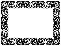 Black border with celtic ornament Stock Image