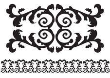 Black border design. Only black color floral borders Royalty Free Stock Photo