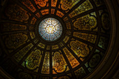 Black and Borwn Stained Glass Dome Roof Royalty Free Stock Image