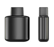 Black bottle with Aftershave. Isolated on white background. 3d illustration Royalty Free Stock Photos