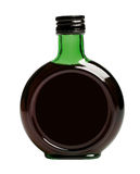 Black bottle with balsam Stock Images
