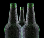 Black bottle of beer Stock Photos