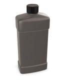 Black bottle cleaner. On white background. 3d illustration Stock Photography