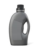 Black bottle conditioning or detergent. 3d illustration on white background Stock Photos