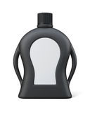 Black bottle of detergent with a blank label for your design. Fr Royalty Free Stock Photo