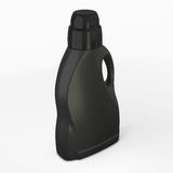 Black bottle for detergent on a white background. 3d illustration. Template bottle for your design Royalty Free Stock Photos