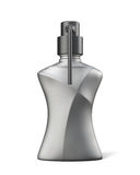 Black bottle of gel, soap or foam/. Black bottle of gel, soap or foam for your design.  on white background. Front view. 3d rendering Royalty Free Stock Photography