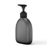 Black bottle for soap on a white. Background. 3d illustration Stock Image