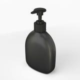 Black bottle for soap. On a white background. 3d illustration Stock Image