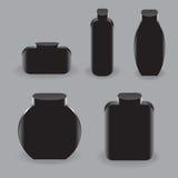 Black bottles Stock Images