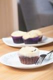 Black bottom cupcake Royalty Free Stock Images