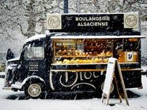 Black Boulangerie Alsacience Food Truck Stock Photography