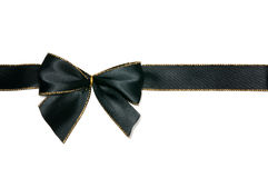 Black bow. Elegant black bow white isolated Stock Image