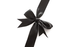 Black bow Stock Photo