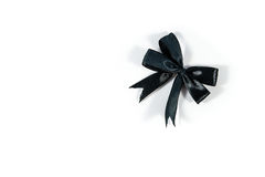 Black Bow isolated on white Royalty Free Stock Photography