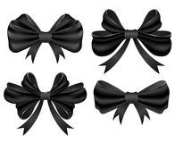 Black bow set Stock Photos