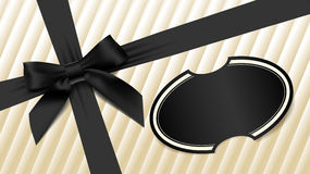 Black bow on textured background Stock Image