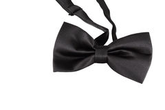 Black bow tie close up Stock Photo
