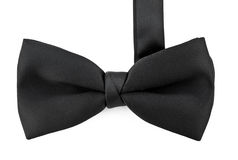 Black bow tie isolated against white Stock Images