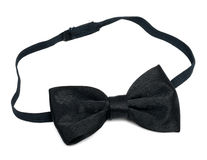 Black bow tie Stock Photography