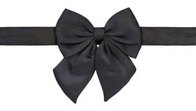Black bow tie isolated on white Royalty Free Stock Images