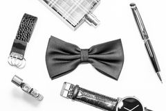 Black bow tie Royalty Free Stock Photos