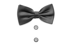 Black bow tie Stock Photos