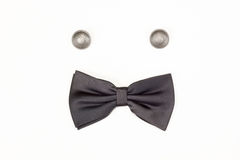 Black bow tie Stock Photography
