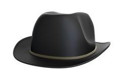 Black bowler hat. On white background Royalty Free Stock Photo