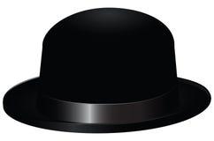 Black bowler hat Royalty Free Stock Image