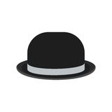 Black bowler hat Royalty Free Stock Photos