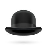 Black bowler hat Royalty Free Stock Image