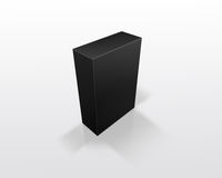 Black box. 3d black box isolated on white Stock Photography