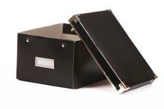 Black box. Isolated on white Royalty Free Stock Photos