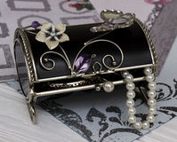 Black box with adornments in vintage style Stock Photo