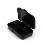 Black Box Capsules isolated on white Stock Photo